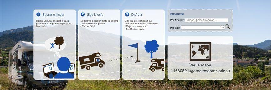 aplicacion para viajar en autocaravanas y furgos